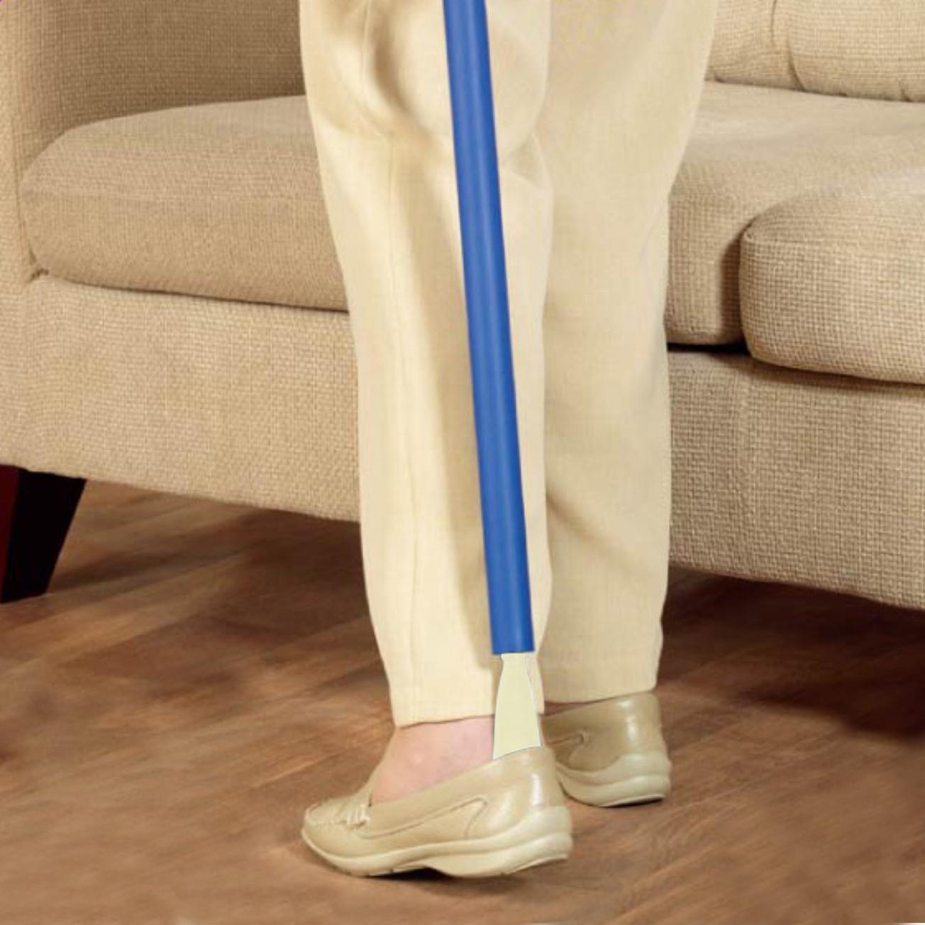 Long chausse pied avec crochet pour attraper vos vêtements
